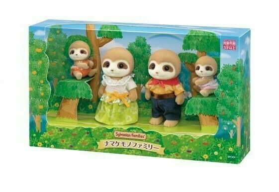 Sylvanian Families Sloth family 2020 EPOCH Calico Critters 4 dools New