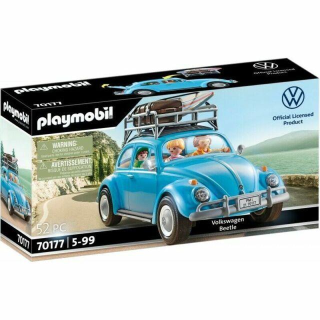 Playmobil 70177 Volkswagen Blue Beetle 52 Piece Building Set Mini Figures Surf