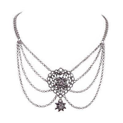 Trachtenschmuck Dirndlschmuck Kropfband Kropfkette Trachtenkette Silber