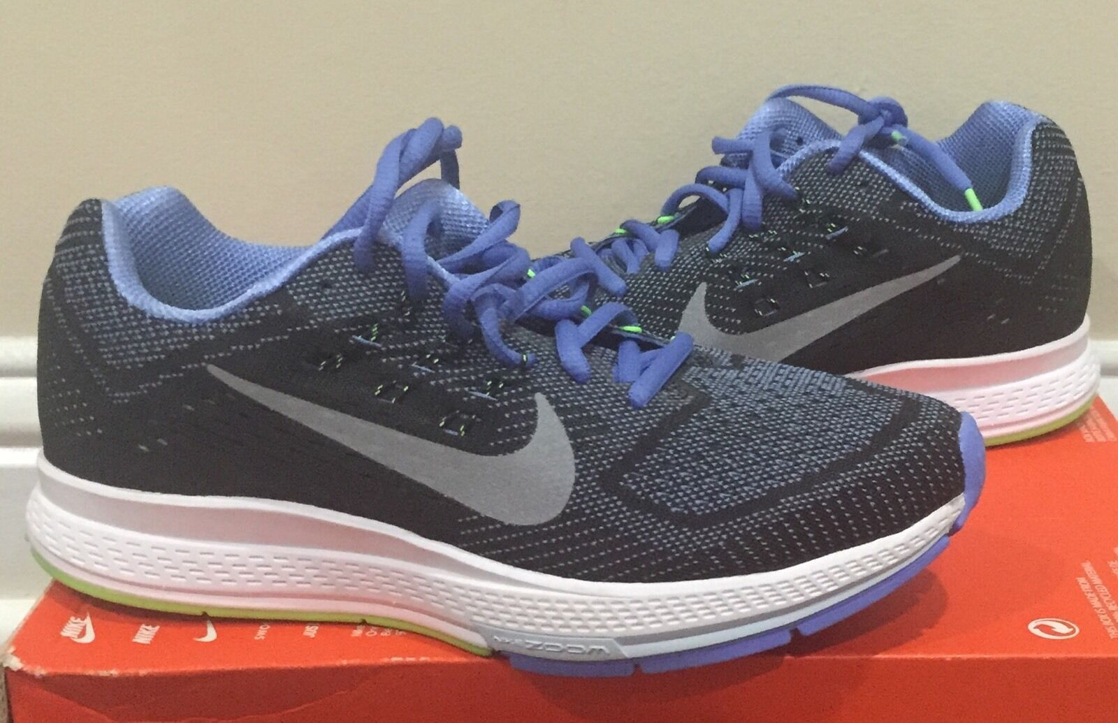 Nike Air Zoom Structure 18 Black/Blue/Green Running Shoes Size 6.5 NIB