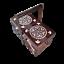 miniatura 1 - Caja de Costura de Madera 35CM En Marrón Oscuro de Color