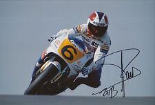 Sito Pons Mano Firmado Foto 12x8 Honda MotoGP 3.