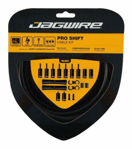 Jagwire Pro Shift Kit Road Mountain SRAM Shimano Derailleur Cable Stealth Black