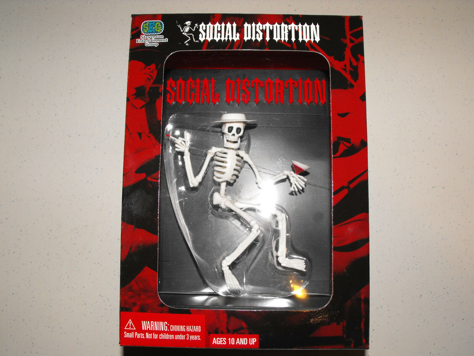 SOCIAL DISTORTION SKELETON W MARTINI & SMOKE MASCOTT COLLECTOR ACTION FIGURE TOY