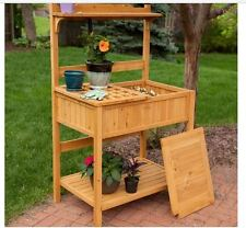 Outdoor Garden Potting Bench Raised Kit Shelf Plant Flower Gardening  Planter New