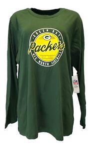 d6bfd1e3c Green Bay Packers NFL Team Apparel Green Long Sleeve Shirt Women s ...