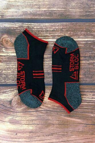 STORM BLOC 6 Confezione Da Uomo Cotone Imbottito Scarpe Da Ginnastica Caviglia Calzini In Bianco E Nero