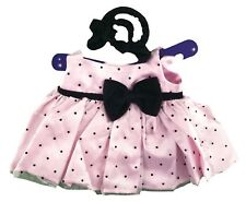 "Polka Dot Dress Pink Outfit Fits Build A Bear Workshop 12"" - 16"" Teddy Bears"