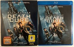 MAZE-RUNNER-THE-DEATH-CURE-BLU-RAY-DVD-2-DISC-SET-SLIPCOVER-SLEEVE-COMIC-BOOK