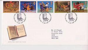 GB-Royal-Mail-FDC-Primer-Dia-Cubierta-de-1998-mundos-magicos-sello-conjunto-mesa-PMK