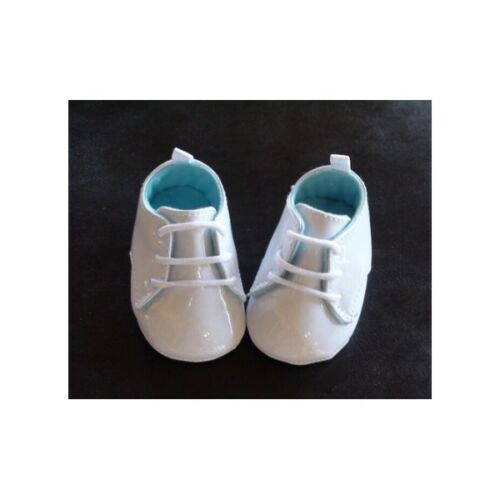 NEW Christening Baby Boy Patent White Shoes Newborn 0-6 months Size 1