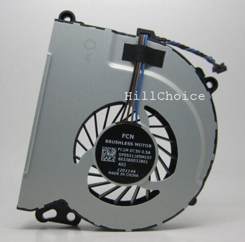 NEW Genuine OEM HP Envy 15-j173ca Laptop 4-PIN CPU Cooling Fan 6033B0032801