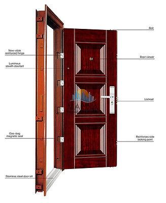 Steel Security Entry Door - 3 Designs to choose from