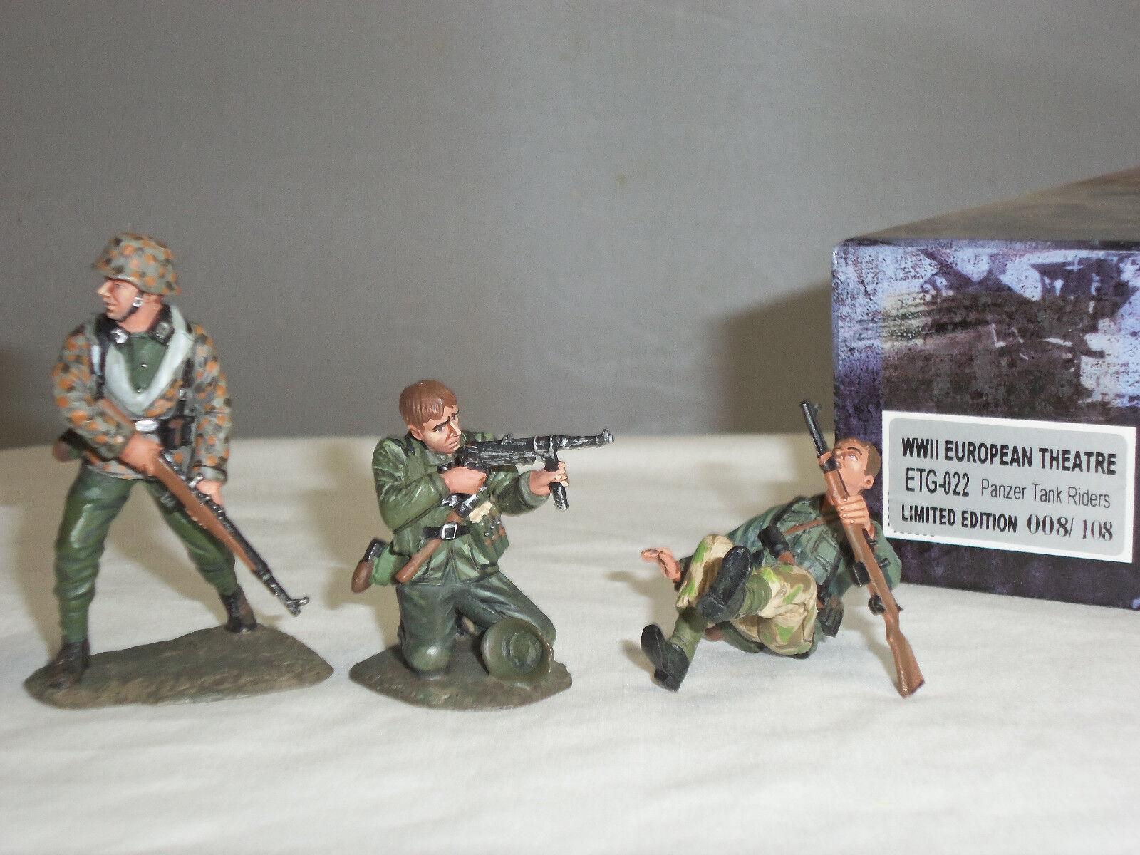 FIGARTI ETG022 WORLD WAR TWO GERMAN PANZER TANK RIDERS METAL TOY SOLDIER SET