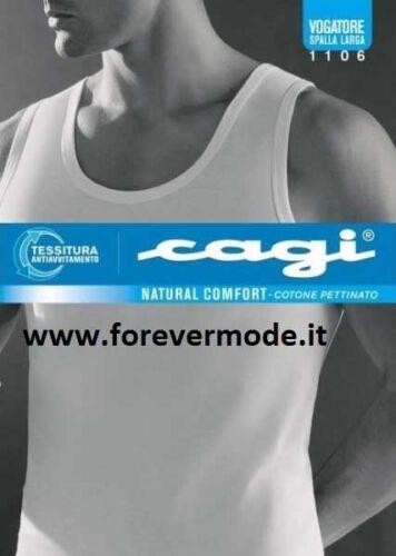 1106 3 Canottiere uomo Cagi spalla larga in morbido jersey di cotone pettinato