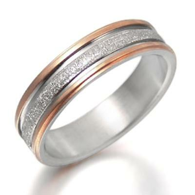 5 Gemini His and Her Two Tone Rose Gold Couple Titanium Wedding Anniversary Rings Set 6mm /& 4mm Width Men Ring Size 10.5 Women Ring Size