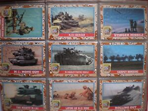 TOPPS-DESERT-STORM-SERIES-2-TRADING-CARD-SET-88-cards-11-stickers-WITH-ALBUM