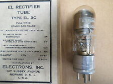 WWI WWII era Vintage Type EL-3C Rectifier Tube Full Wave Xenon Gas Filled NOS