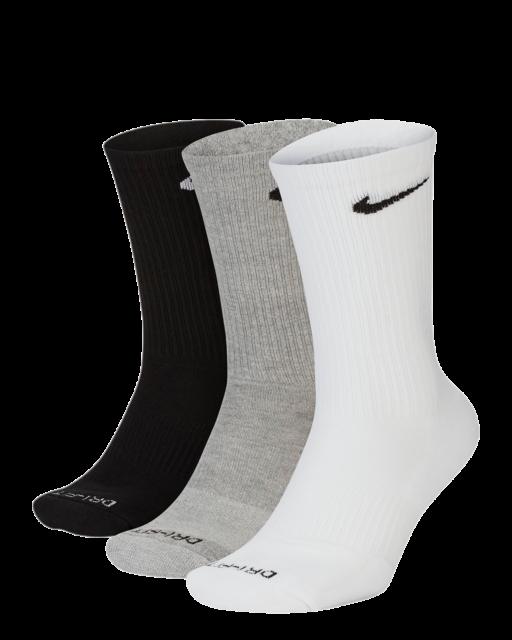 Nike Everyday Plus Dri-Fit Cushion Training Crew Socks (3 Pairs) | Size 8-12