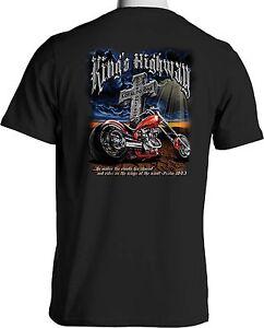 Kings Highway Praise Jesus Christain Biker T Shirt Loud