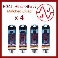 JJ E34L Blue Glass Power Vacuum Tubes - Matched Quad - 4 Pieces