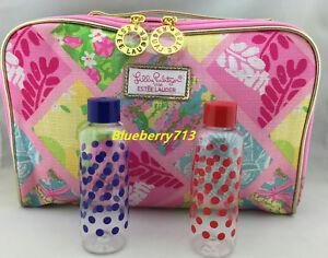 c74872e51e65 New! Estee Lauder Lilly Pulitzer Makeup Bag with Top Handle + 2 ...