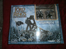 LORD OF THE RINGS LOTR  WARRIORS AND BATTLE BEASTS GONDORAN CATAPULT W/2 SOLDIER