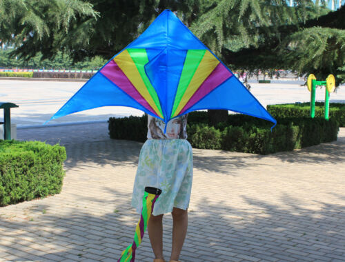 1.5m 59In Spinner Tail Triangle //Delta Kite With Flying Tools Children/'s toy