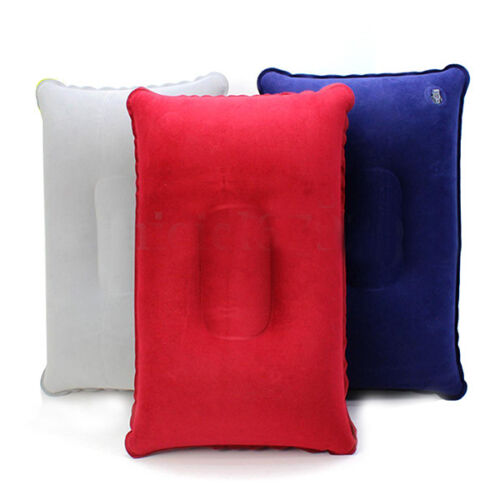 Double Sided Air Inflatable Pillow Cushion Pad Travel Sleep Support Soft S5T8