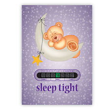 A5 Sleep Tight Teddy - Nursery, Baby and Childrens Room Thermometers