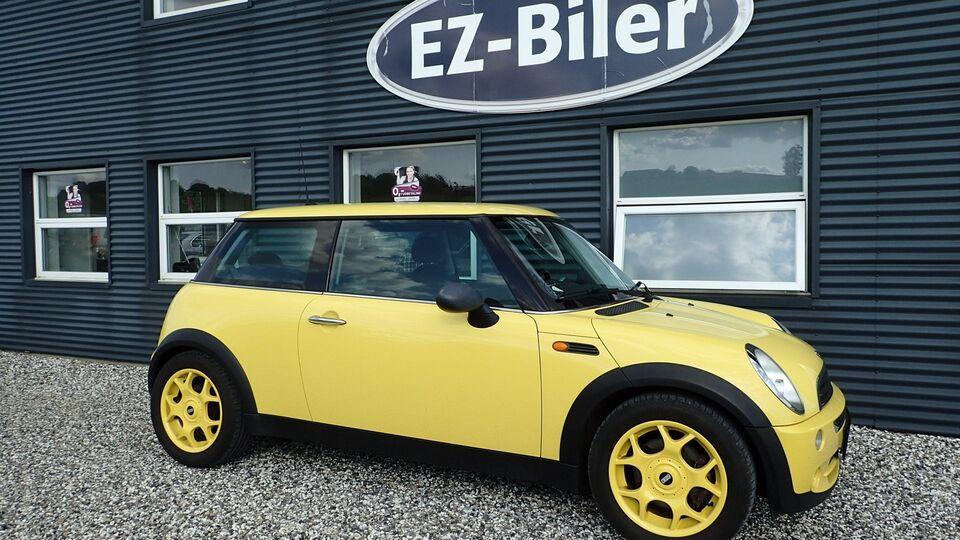 Mini One 1,6 Benzin modelår 2005 km 169000 Gul nysynet ABS