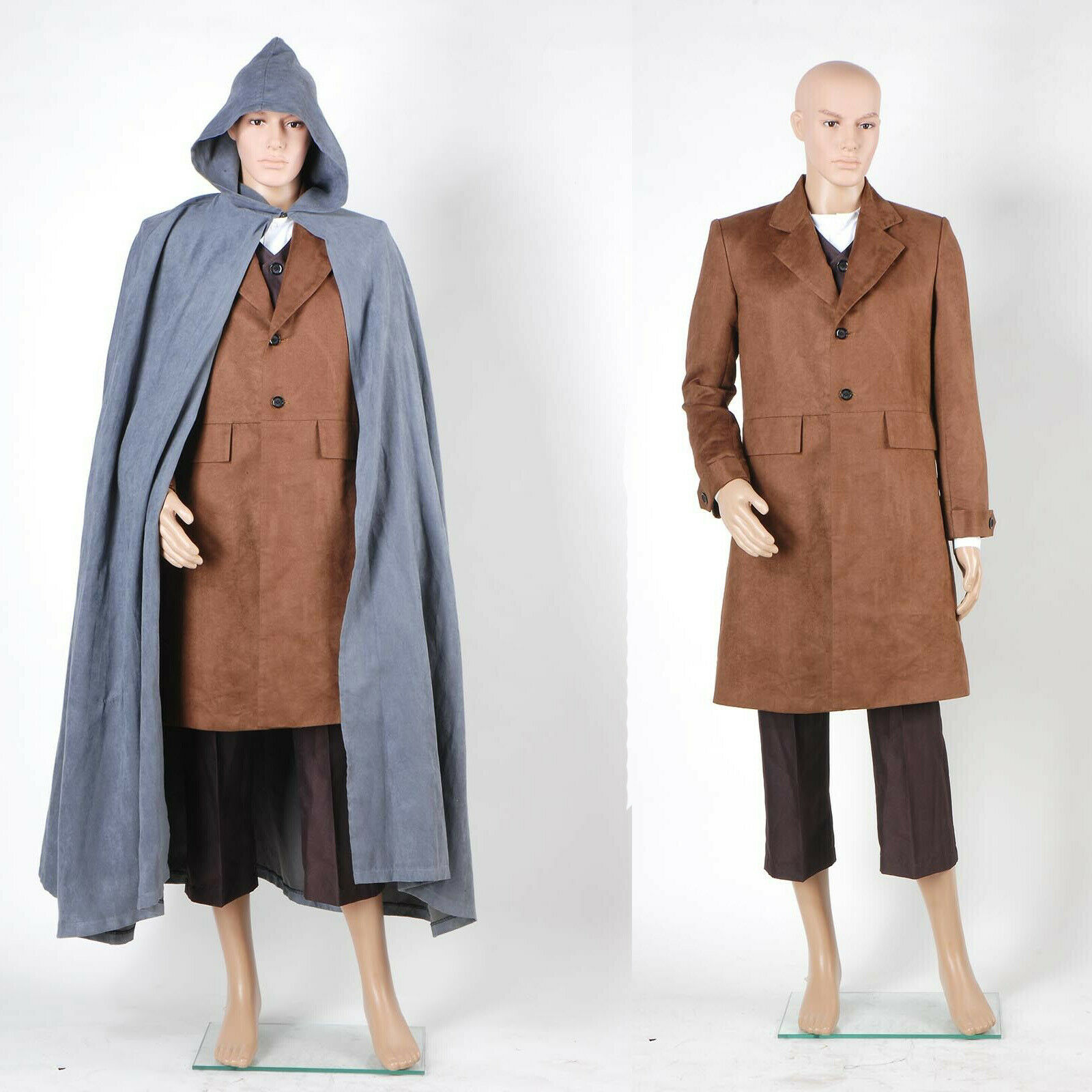 The Lord of the Rings Frodo Baggins Mantle Coat Jacket Halloween Film Party