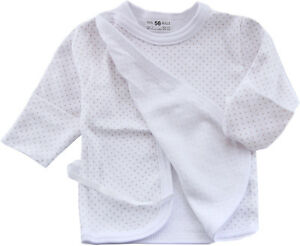 56 NEU Unisex Hemdchen Wickelshirt Wickelhemdchen Baby Flügelhemdchen Shirt 50