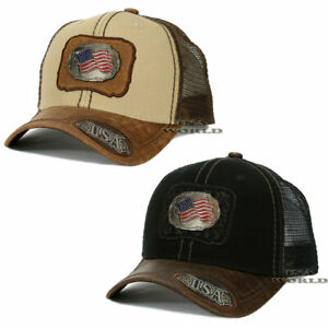 USA-American-Flag-hat-Metallic-Flag-patched-Western-Mesh-Snapback-Baseball-cap