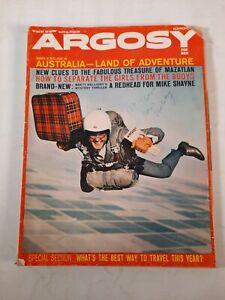 Vintage march 1964 Argosy fiction fact mens magazine