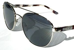 NEW-MICHAEL-KORS-SAL-Round-AVIATOR-SILVER-w-Grey-Black-Lens-MK5019-Sunglass