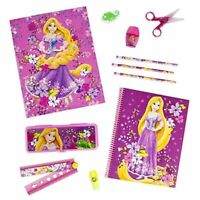 Disney Store Rapunzel 11 Piece School Supply Kit Pencils Notebook Box Erasor ++