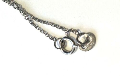 """NEW 16/"""" 1 mm 14K Solide Or Blanc Rolo Chain Link Collier"""