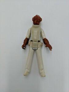 "Vintage 1982 Kenner Star Wars 3.75"" Admiral Ackbar Figure Complete Original"