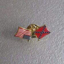 USA FLAG LOGO LAPEL PIN TIE STUD VINTAGE RETRO CREST METAL 1980s 1990s