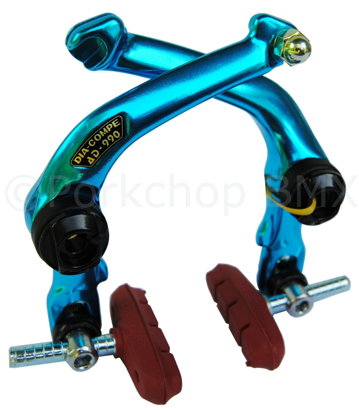 Dia-Compe AD-990 FS-990 front or rear BMX U-brake bicycle brake caliper - blueeE