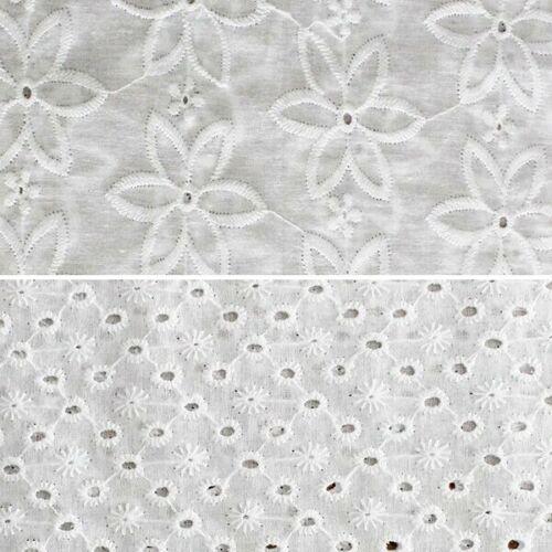 100/% en coton brodé Pelouse Tissu John Louden Floral Têtes marguerites