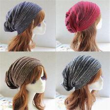NEW Womens Mens Knit Baggy Beanie Hat Winter Warm Oversized Ski Cap