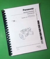 Laser Printed Panasonic Ag-dvx100b Video Manual User Guide 88 Pages