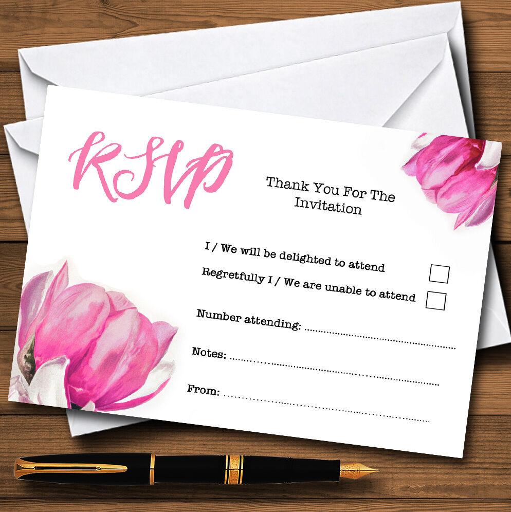 Acquerello rosa rosa rosa FIORI D'personalizzata Rsvp Carte e7a620