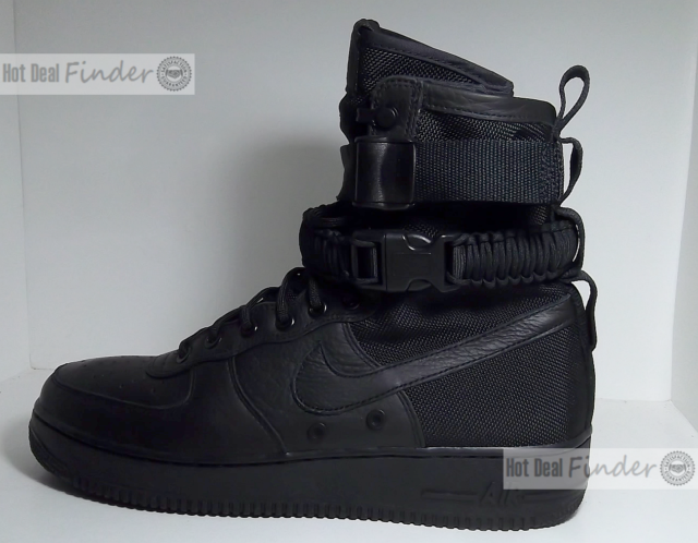 info for 62294 9e51f Mens Nike Special Field SF Air Force 1 Triple Black 864024-003 US 8