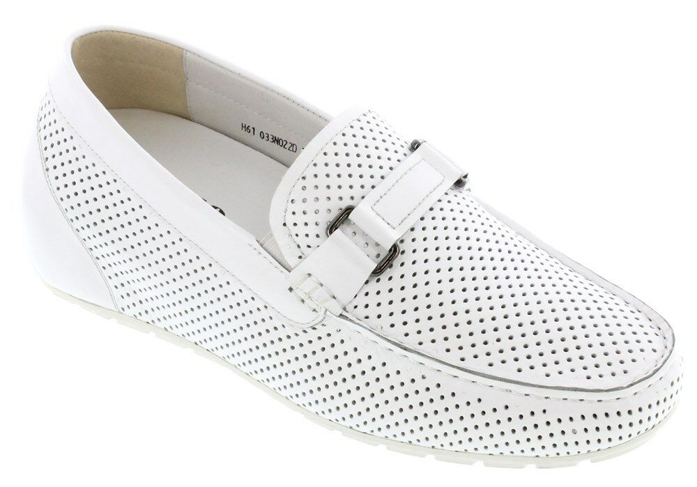 TOTO D33022 - 2.4 Inches Elevator Height Increase White Perforated Slip On shoes