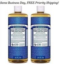 DR. Bronner's PURE CASTILE SOAP ORGANIC Oil 18 in 1 Hemp Peppermint 50 Oz TOTAL