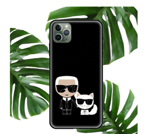 COQUE IPHONE ETUI SILICONE IPHONE 7 8 11 12 IPHONE X XS XR 11PRO (NOIR) KARL 2