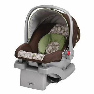 Graco SnugRide Car Seat Elephants Jungle Animals Brown Green Safety ...